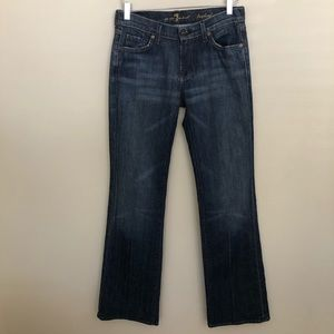 For All Mankind Button Bling Bootcut Denim Jeans